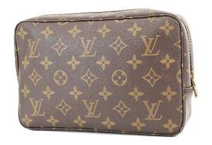Authentic LOUIS VUITTON Trousse Toilette 23 Monogram Cosmetics Pouch Bag #36696