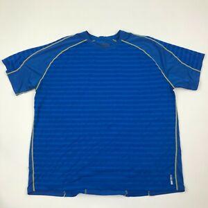 Avalance Men Blue Stretch Short Sleeve Shirt sz 2XL