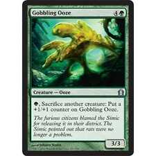 * Foil * MTG Gobbling Ooze EX - Return to Ravnica