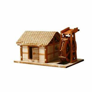 YoungModeler Ho Series Korean Traditional Water Mill House Wooden Model Kit