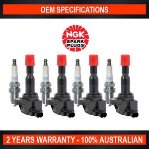 4x NGK Iridium Spark Plugs & 4x Swan Ignition Coils for Honda Jazz GD VTi 1.5L
