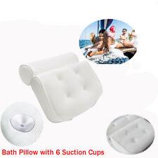 3d Mesh Spa Bath Pillow Neck Back Support Tub Bathtub Cushions Suction Cups AU