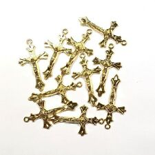 Gold Crucifix 43mm MM03 - Bulk Pack Of 10