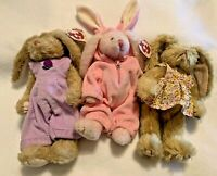 TY BEANIE BABIES~ATTIC TREASURES COLLECTION~BUNNIES~~SHELBY,IRIS,STRAWBERRY~1993
