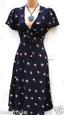 Tamaño 10 años 40 años 50 Segunda Guerra Mundial Landgirl Estilo Vintage Verano Vestido Floral de té US 6 EU 38