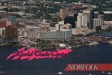 Aerial View of World Trade Center & Downtown Norfolk, Virginia, Park -- Postcard