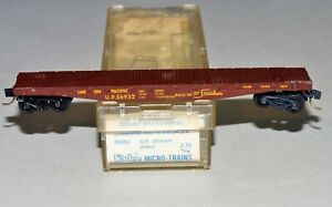 N Scale Kadee 45082 U.P. 56932 Union Pacific 50' Flatcar, Side-Mount Brakewheel
