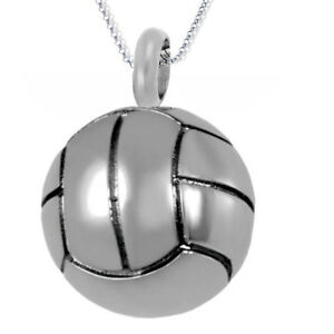 NEW! J212 Silver Football Cremation Jewellery Pendant Necklace