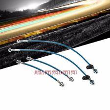 Blue Front+Rear Stainless Steel Hose Brake Line Kit for Toyota 03-08 Corolla 1.8