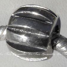 Biagi Bead Sterling Silver, Ridge Spacer Designer Fashion Charm Jewelry BS-004