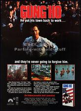 GUNG HO__Original 1986 print AD / video movie promo__MICHAEL KEATON__MIMI ROGERS