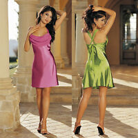 Plus Size Lingerie Sizes 4X 5X or 6X Green or Pink Charmeuse Chemise   SOHX30121