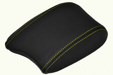 FITS HYUNDAI COUPE 99-02 ARMREST COVER LEATHER YELLOW STIT