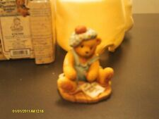 Cherished Teddies.Kyle in blue overalls - You'll always be in my heart.