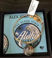 ALEX and ANI Aloha Hawaii bracelet GOLD And Blue NEW NWT