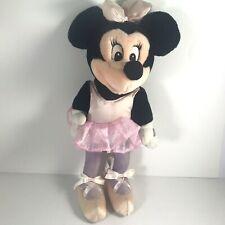 "New listing Disney Minnie Mouse Ballerina Plush 14"" Poseable Toy Vtg Ballet"