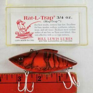 Vintage NEW Bill Lewis Rat L Trap Crawdad 3/4 oz Crankbait Fishing Lure