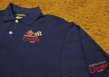 NEW Mens ~ CORVETTE CLUB JACKSONVILLE FL ~ Polo Golf Shirt Medium NWOT