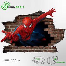 Adesivi murali parete  3D Spiderman wall sticker cameretta bimbi - uomoragno 001