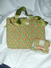 Longaberger handbag with double ribbon handles & matching wallet new Wot