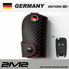 Leather Key fob Holder Case Chain Cover FIT FOR OPEL GTC OPC Corsa Insigni astra