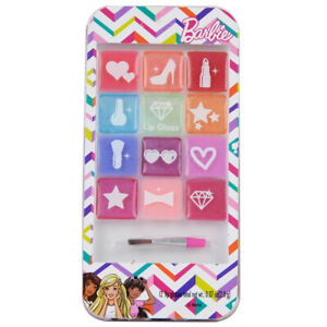 Barbie Makeup Lip Gloss Set Sparkle Compact Case Cosmetic Gift Set