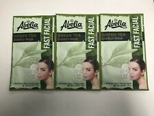 (3) Abelia GREEN TEA Energy Korean Face Mask - Energize- Hydrate & Rejuvenate