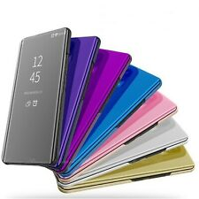 Per Samsung Galaxy S8 S9 + S10+ Smart View Specchio in Pelle Flip Stand Custodia Cover
