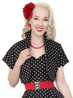 Vivien of Holloway Bolero Black White Spot Polka Dot Jacket Rockabilly Vintage
