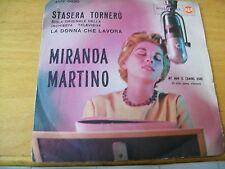 """MIRANDA MARTINO STASERA TORNERO  7"""" RCA SIGLA TV """"LA DONNA CHE LAVORA"""""""