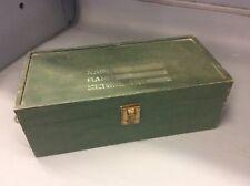 Vintage GI Joe Green Wood Toy Foot Locker Trunk Box