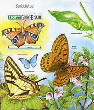 Guinea-Bissau 2015 MNH Butterflies 1v S/S Insects Peacock Butterfly Borboletas