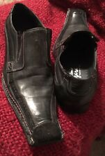 Vtg Luxury Loafer Antonio Zengara Classic Italian leather Square Toe Men's 9.5