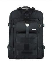 JSMD Official BTS X AGATHA Licensed Travel Edition Canvas Backpack, Black Medium