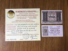 REGNO D' ITALIA LOTTO 2 BANCONOTE 1 LIRA IMPERO 1939 1 LIRA LAUREATA 1944 qFDS