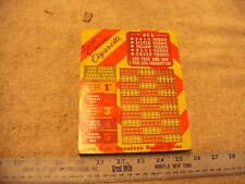 Vintage Unused Dixie Queen Cigarettes Punch Board