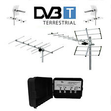 KIT ANTENNA DIGITALE TERRESTRE 14 E 6 ELEMENTI UHF VHF MIX MISCELATORE F DVBT TV