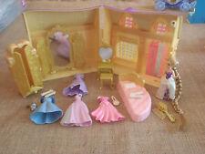 Polly Pocket Disney Princess Lot Rapunzel Cottage Accessories Lot Dresses