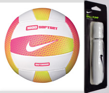 Nike 1000 Softset Outdoor Volleyball + Pump White/Lime Blast/Pink