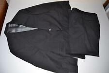 JACK VICTOR CHARCOAL GRAY PINSTRIPED 2 BUTTON BLAZER SUIT MENS SIZE 40S 34 X 29