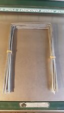 """Croquet REPLACEMENT WICKETS Hoops HEAVY Handmade Complete 6"""" Square Set of 9"""
