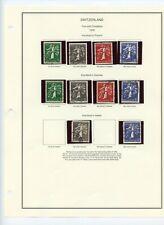 SWITZERLAND - 1909 thru 1939 - Stamp collection on 8 pages - High CV $$$