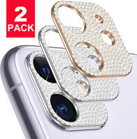 For iPhone 12 Pro Max Luxury Diamond Camera Lens Screen Protector Case Cover