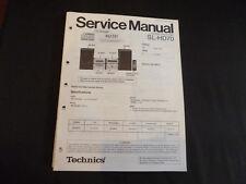 Original Service Manual Technics SL-HD70