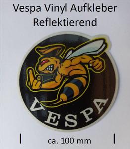 Vespa Aufkleber,  Reflektierend, Durchmesser ca. 100 mm
