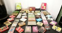 Vintage - Now 60 Assorted Decks of Playing Cards Mixed Lot & 3 Bridge Score Pads