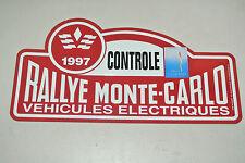 PLAQUE du RALLYE de MONTE-CARLO 1997 / TIN PLATE CAR RALLYE MONACO / ORIGINALE