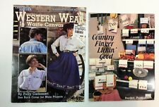 Cross Stitch Pattern Books Western Wear and Country Towels