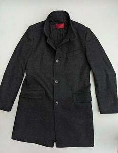Hugo Boss Over Coat, Charcoal Grey, size UK 40 (Large), Excellent Cond, RRP £400