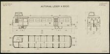 Autorail Léger X5500. Plan No 1705. France railways trains SNCF 1950 old print